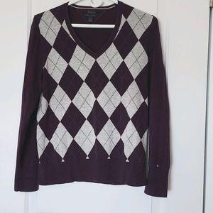 Tommy Hilfiger Argyle Sweater Large